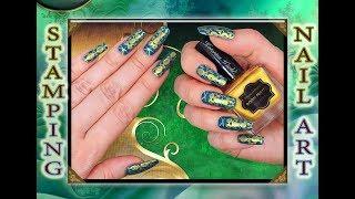 Стемпинг с пластиной MOYRA / МОЙРА на гель лак VENALISA / MOYRA  stamping nail art.