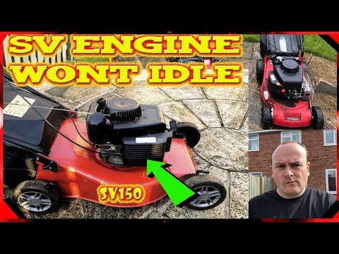 Mountfield SV 150 Lawnmower Engine Revs Up And Down Help