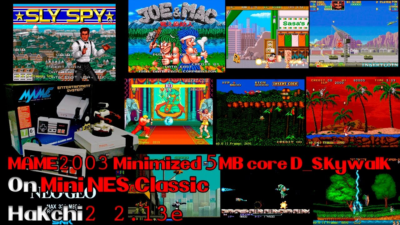 Some MAME Games on Mame2003 Minimized build by D_Skywalk Hakchi2 2 13e