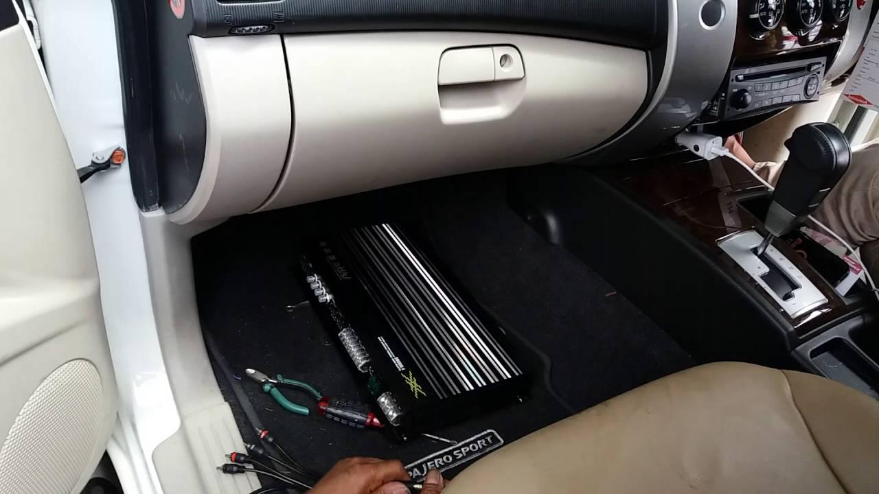 Instalasi Audio Mobil Power Amplifier Pajero