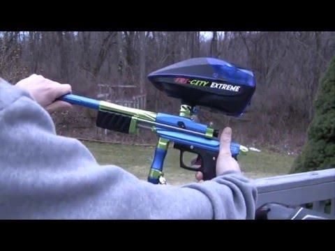 Azodin KP3 Kaos Pump 3 Paintball Marker- Shooting