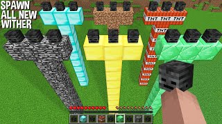 Super SPAWN All TALLEST WITHER In Minecraft ! SUPER WITHER BOSS !