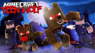 Minecraft TEEN WOLF - THE GREAT ESCAPE FROM THE POLICE - Donut the Dog - Minecraft Roleplay
