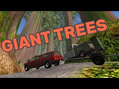 GIANT TREES at Redwood - BeamNG.drive