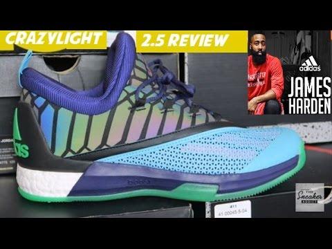 ac07ef435131 James Harden adidas Crazylight 2.5 Boost Allstar Xeno Sneaker Review + On  Feet - YouTube