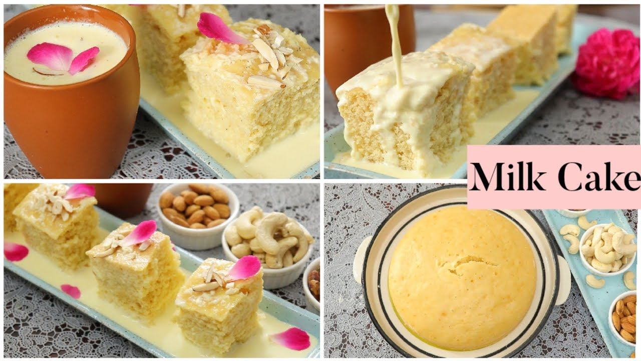 Malai Cake (Milk Cake) in Kadai / No Cream No Oven No Egg / Cake recipe without oven