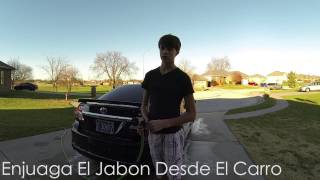GoPro 3 | How To Wash Your Car | Spanish Project