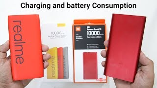 Realme PowerBank Vs Mi 2i Powerbank Comparison(Charging and Battery Consumption)