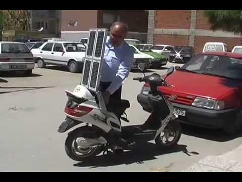 Türk mucitten Güneş enerjili bisiklet