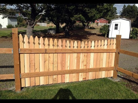 Wood Fence & Gate Designs Ideas for Front Yards and Backyards