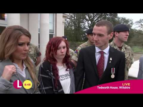 Matthew Wolfenden And Gemma Oaten At The Help For Heroes Recovery Centre  Lorraine