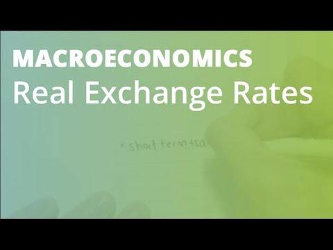 Real Exchange Rates | Macroeconomics