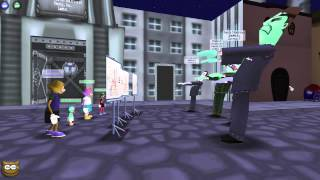 Toontown Rewritten: All 4 of each level 7 gag used at once!