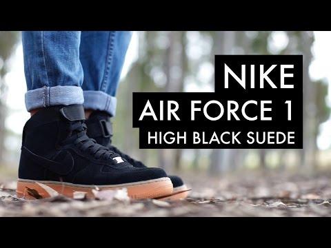 Nike Air Force High Black Suede