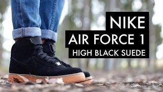 nike air force 1 suede black