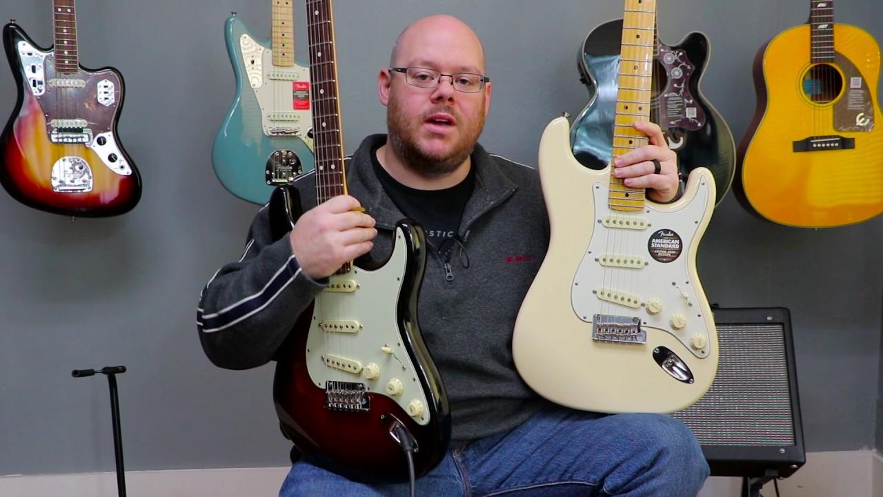 Fender American Professional vs American Standard Stratocaster Comparison