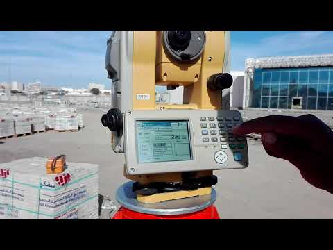 Surveyor Nadeem Muhammad how point save delete and adit by TS topcon GTS751