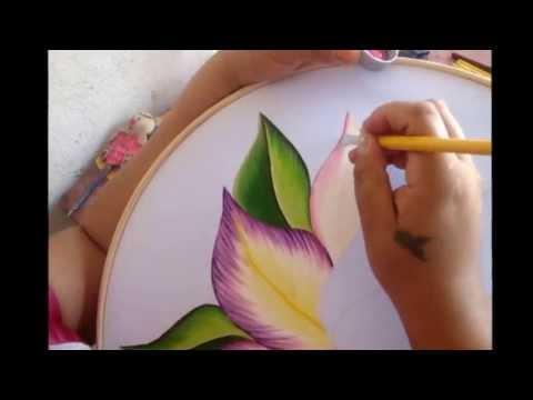 Como pintar una orquidea parte uno marimur 268 youtube - Como pintar sobre tela ...