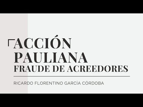 ACCIÓN PAULIANA -