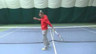 Уроки большого тенниса. Что такое резаный удар? Удар слева