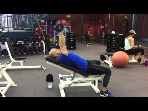 Incline DB Triceps Extension