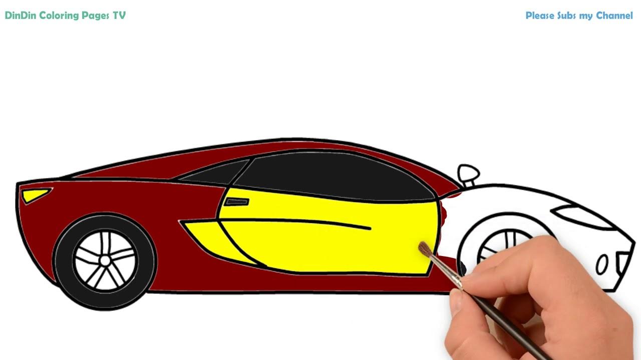 Wie Zeichnet Man Auto Fur Kinder Malvorlagen Fur Kinder Auto Youtube