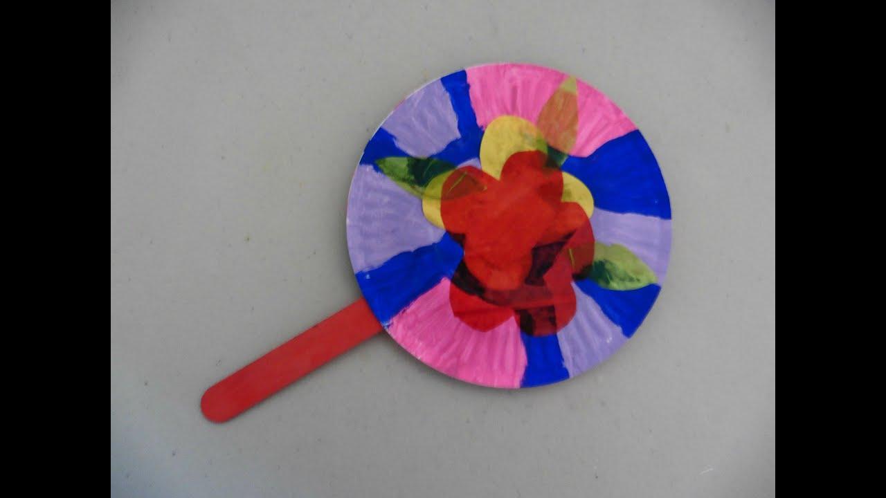 Como hacer un abanico con 2 platos de papel creative - Como hacer un abanico ...