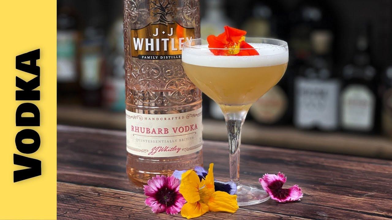 Easy Vodka Cocktails Recipes - RHUBARB & ELDERFLOWER MARTINI