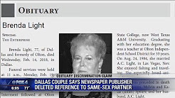 Dallas couple says newspaper deleted reference to same sex partner in obituary
