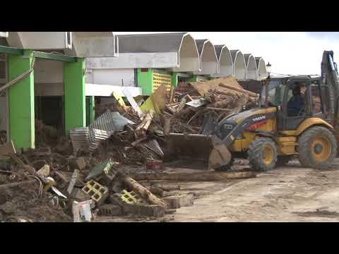 Oct. 10, 2017: Scenes of clean-up around Roseau