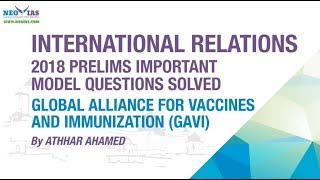 GLOBAL ALLIANCE FOR VACCINES AND IMMUNIZATION   PRELIMS IMPORTANT MODEL QUESTION SOLVED