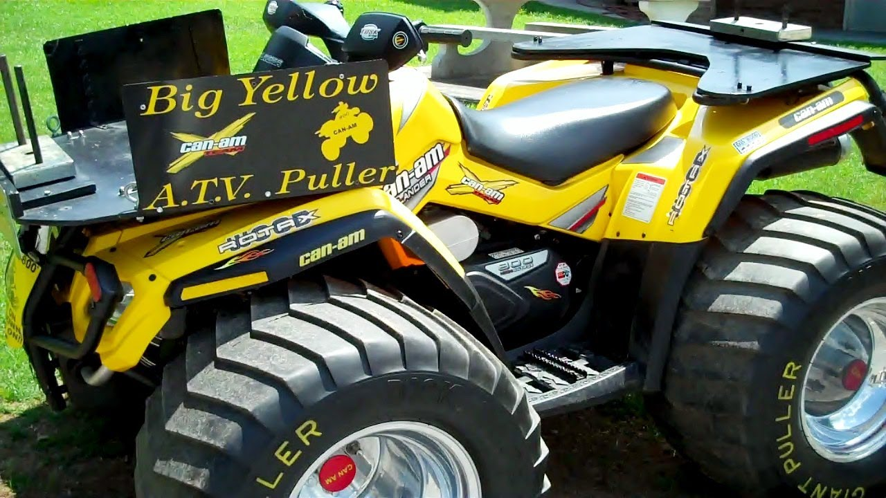 Can Am Outlander Pulling Atv Youtube