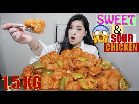 1.5 KG Sweet & Sour Chicken   Chinese Food   Mukbang