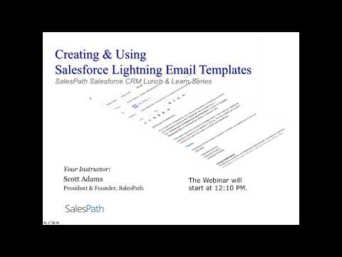 Creating And Using Salesforce Lightning Email Templates 2018