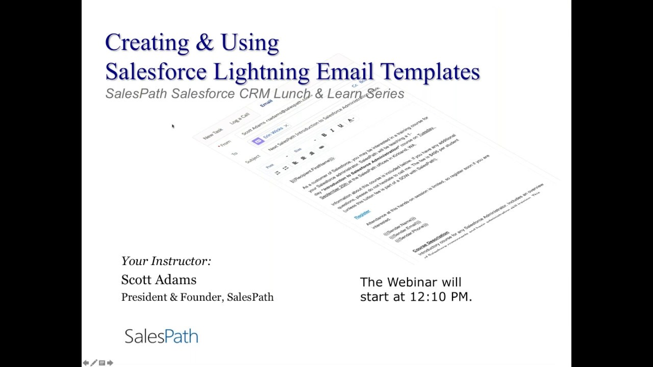 Creating And Using Salesforce Lightning Email Templates 2018 Youtube