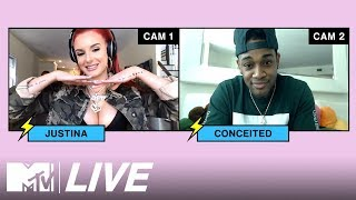 Quarantine Freestyle: Justina Valentine VS Conceited 🔥UNEDITED | The Justina Valentine Show | MTV