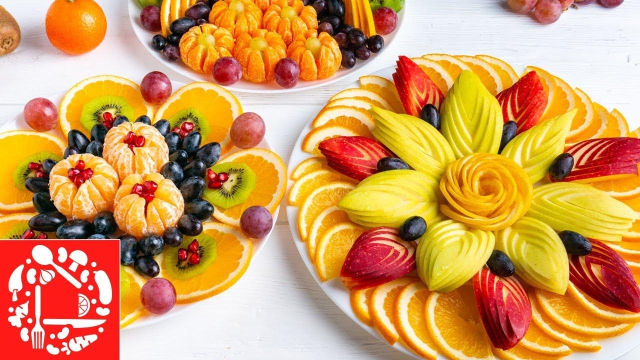 5 Фруктовых Тарелок на День рождения! Красивая Фруктовая Нарезка на Праздничный стол! Ножи Самура