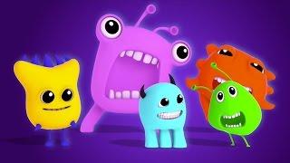 Монстр палец Семья   потешки для детей   Nursery Song   Scary Rhymes   Monster Finger Family