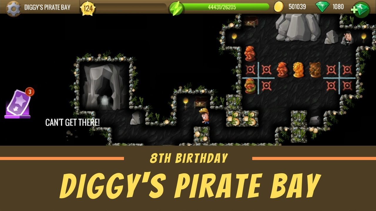 Where Are The Five Treasures In Diggys 2020 Christmas Adventures Diggy's Pirate Bay   #5 8th Birthday   Diggy's Adventure   YouTube