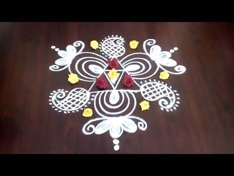 Simple Creative Flower Muggulu For Sravana Masam || Fashion World