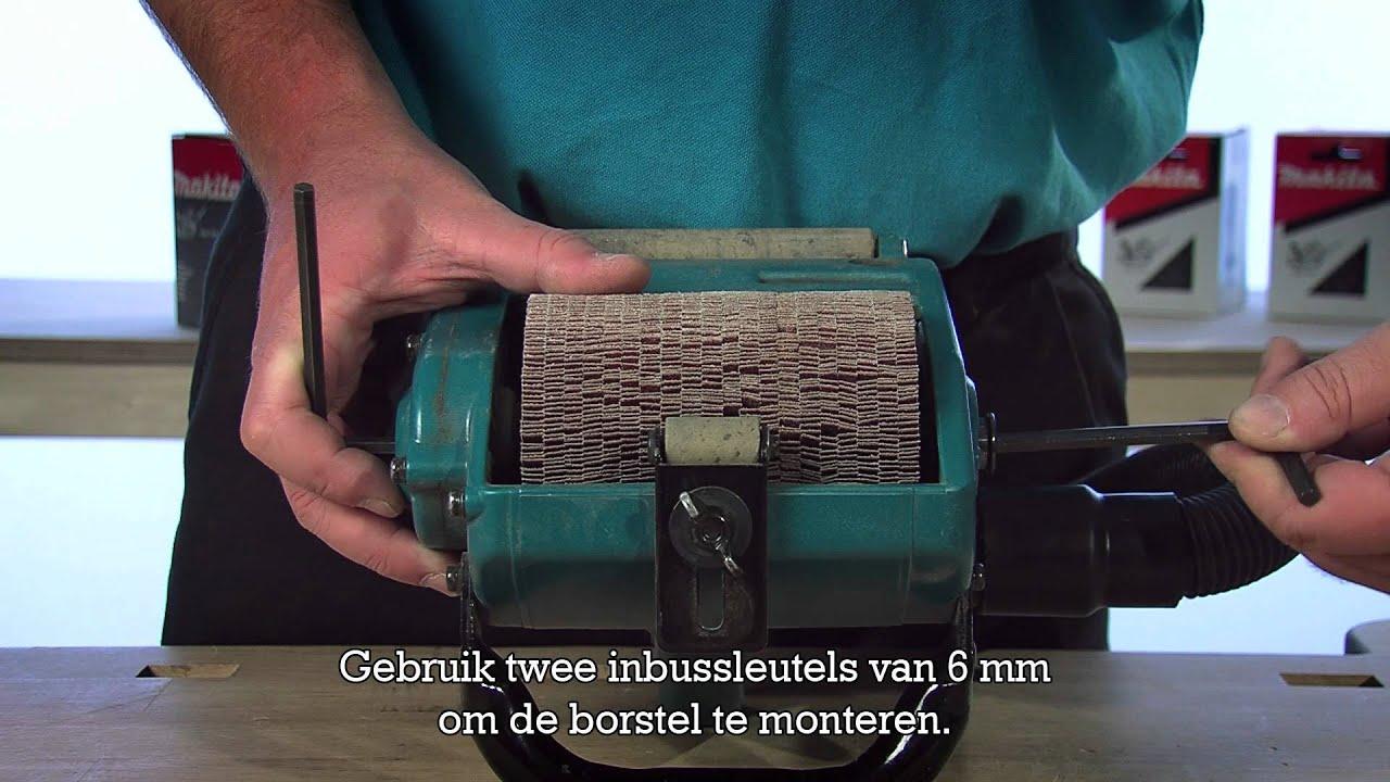 Voor welke toepassingen is de 9741 borstelschuurmachine
