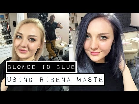 I WENT FROM BLONDE TO BLUE USING RIBENA WASTE   KERACOL