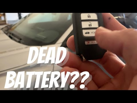 How to start your 2018 2019 Honda Accord or Civic with no battery...