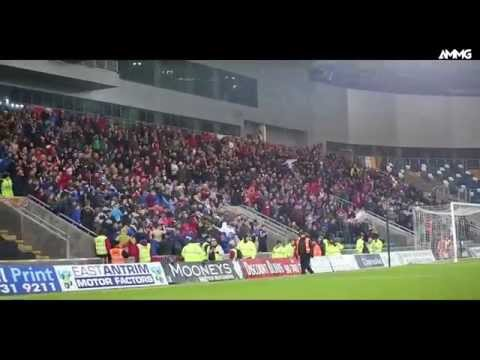 Cliftonville Fans Doing The Huddle In Windsor Park (HD)