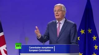 LIVE: David Davis and Michel Barnier hold joint Brexit presser thumbnail