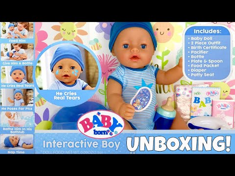 🎉Yay! New Baby Born Boy Doll From MGA Entertaiment Is Here! 🍼Unboxing, Feeding & Potty Training!😊