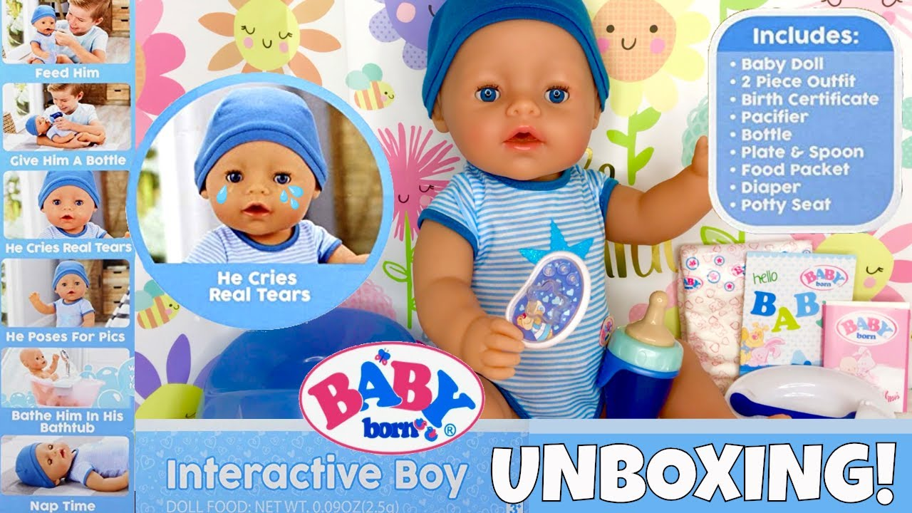 Yay New Baby Born Boy Doll From Mga Entertaiment Is Here