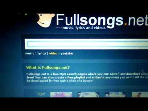How To Get Free Music ~FULLSONGS.NET~