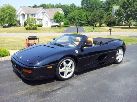 Ferrari F355 F1 Spider: Start up, Revs, and On-board Ride! - YouTube