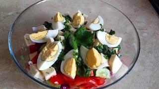 Дієтичний Ситний Салат з тунцем Літній варіант Без майонезу